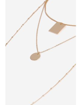 **Disc And Tag Multi Row Necklace by Topshop