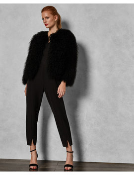 Shearling Cropped Jacket by Ted Baker