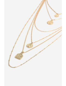 **Mega Coin Layer Necklace by Topshop