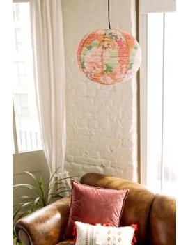 Printed Pink Blossom Round Paper Shade by Urban Outfitters