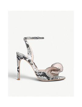 Soleil Snake Effect Leather Heeled Sandals by Sophia Webster