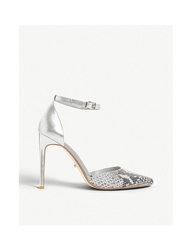 Dixey Snake Embossed Leather Courts by Dune