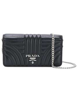 Pradalogo Quilted Shoulder Baghome Women Prada Bags Messenger & Crossbody Bags by Prada