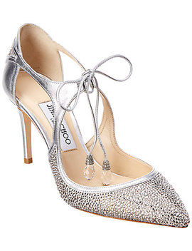 Jimmy Choo Vanessa 85 Crystal Embellished Leather Pump by Jimmy Choo