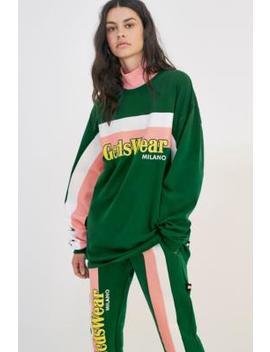 Gcds– Sweatshirt In Grün Mit Logoschriftzug by Gcds Shoppen