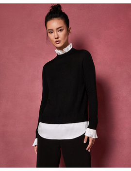 Pull Over Avec Col Plissé by Ted Baker