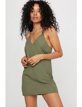 V Neck Mini Slip Dress by Urban Planet