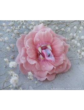 Tender Rose With A Piercing Brooch. by Plastika Fantastika