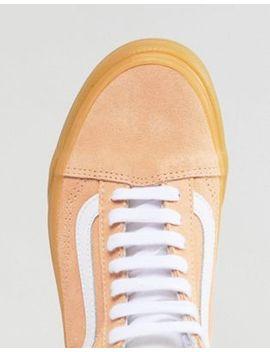 Vans Old Skool Pastel Orange Sneakers With Gum Sole by Vans