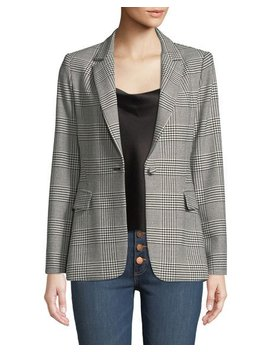 Macey Fitted Notch Collar Blazer by Alice + Olivia