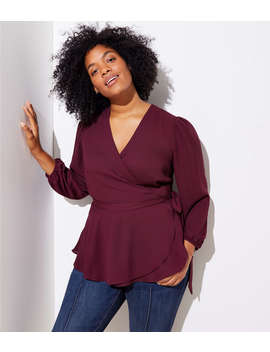 Loft Plus Wrap Blouse by Loft