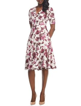 Edith Floral Print A Line Dress by Gal Meets Glam Collection