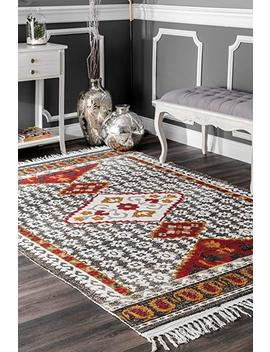 "Nu Loom 200 Vhsb03 A 5075 Printed Tribal Laurena Tassel Rug Area, 5' X 7' 5"" by Nu Loom"