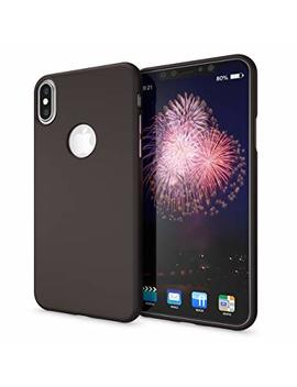 Nalia Case For I Phone X Xs, Ultra Thin Phone Cover Tpu Neon Silicone Back Protector Rubber Soft Skin, Protective Shockproof Slim Gel Bumper Back Case For Apple I Phone Xs X Smart Phone, Color:Black by Delightable24