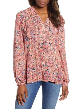 Ruffled Paisley Top by Wit & Wisdom