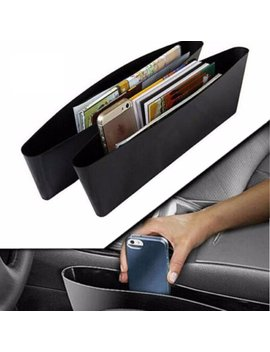 Auto Caddy Slit Pocket Gap Organizer Side Car Seat Tray Box Space Console Seat Side Gap Filler Seat Pocket Premium For Van Truck Suv by M.Way