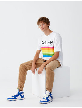 T Shirt Polaroid Met Logo by Pull & Bear
