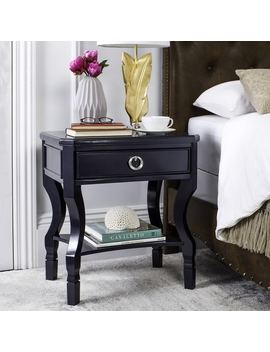 Safavieh Alaia One Drawer Navy / Navy Night Stand by Safavieh