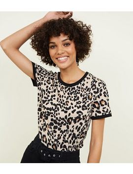 Brown Leopard Print T Shirt by New Look