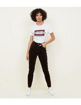 Khaki Corduroy Super Skinny Dahlia Jeans by New Look
