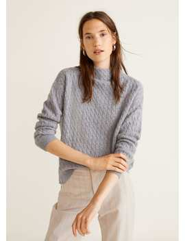 Cable Knit 100 Percents Cashmere Sweater by Mango