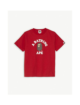 Logo Cotton T Shirt 4 8 Years by A Bathing Ape