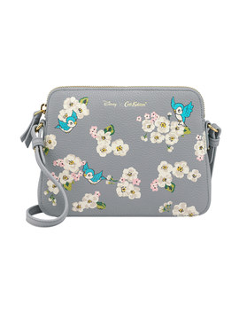 Snow White Scattered Blossom Small Maltby Leather Cross Body Bag by Cath Kidston