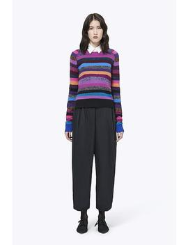 Cashmere Grunge Stripe Tie Neck Sweater by Marc Jacobs