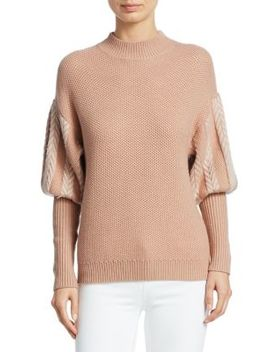 Wool Puff Sleeve Sweater by Jonathan Simkhai