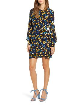 Apron Front Long Sleeve Dress by Astr The Label