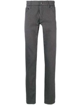 Ann Demeulemeesterstriped Slim Fit Trousershome Men Ann Demeulemeester Clothing Regular Fit & Straight Leg Pantssheer Shirtboxy Blazerstriped Slim Fit Trousers by Ann Demeulemeester