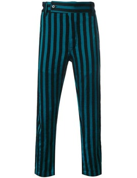 Ann Demeulemeesterstriped Trousershome Men Ann Demeulemeester Clothing Tapered Pantslaced Bootsstriped Trousers by Ann Demeulemeester