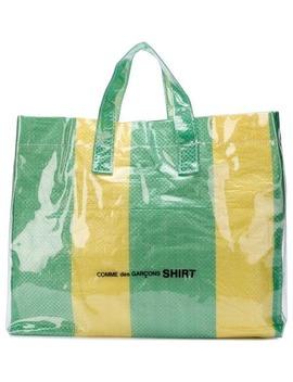 Comme Des Garçons Shirtstriped Large Totehome Men Comme Des Garçons Shirt Bags Tote Bags by Comme Des Garçons Shirt