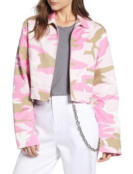 Camo Crop Jacket by Melody Ehsani