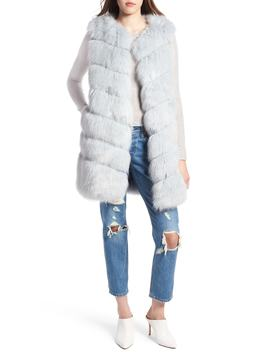 Grooved Faux Fur Vest by Kendall + Kylie