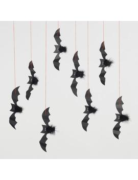 Halloween Bats Hanging Decor Set Of 8 by World Market