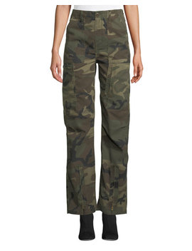 High Waist Camo Print Cargo Pants by Re/Done