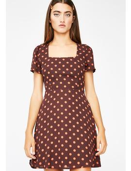 Learn A Lesson Polka Dot Dress by Lelis