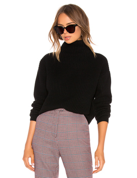 Cashmere Cropped Turtleneck Sweater by Enza Costa