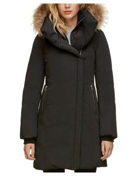 Fur Trim Asymmetric Front Down Coat   100 Percents Exclusive by Soia & Kyo