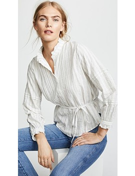 The Robin Ruffle Sleeve Blouse by Birds Of Paradis