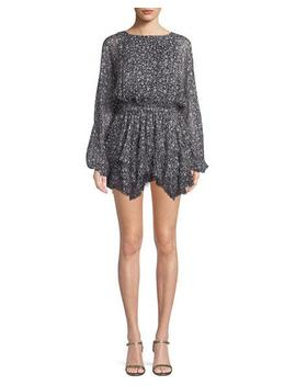 Kaia Star Print Silk Mini Dress by Loveshackfancy