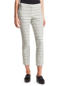 Classic Skinny Check Ankle Pants by Theory