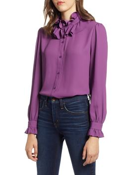 Ruffle Neck Blouse by Halogen®