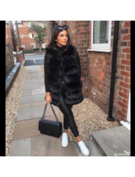 Fur Vest Black by Fashion Drug