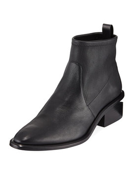Kori Stretch Leather Booties by Alexander Wang