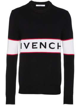 Givenchylogo Intarsia Jumperhome Men Givenchy Clothing Knitted Sweaters by Givenchy