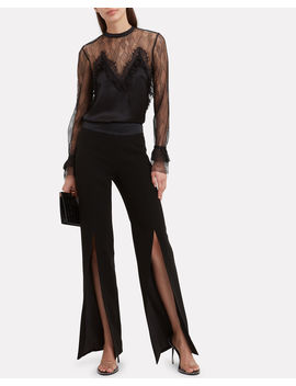 Lace Satin Blouse by Jonathan Simkhai