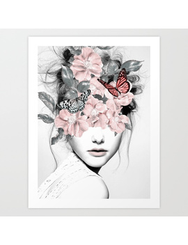 Woman With Flowers 10 Art Print by