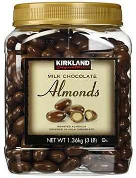 Kirkland Signature Milk Chocolate Roasted Almonds, 48 Ounce by Kirkland Signature